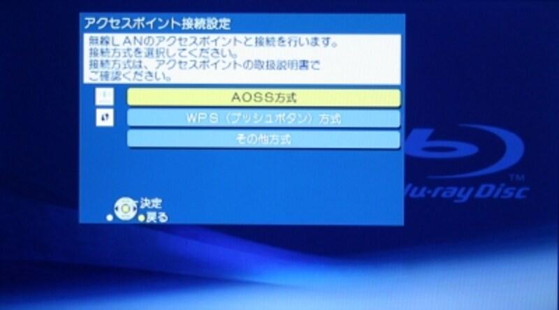 AOSS、WPSの2つの自動設定に対応している無線LAN機能。