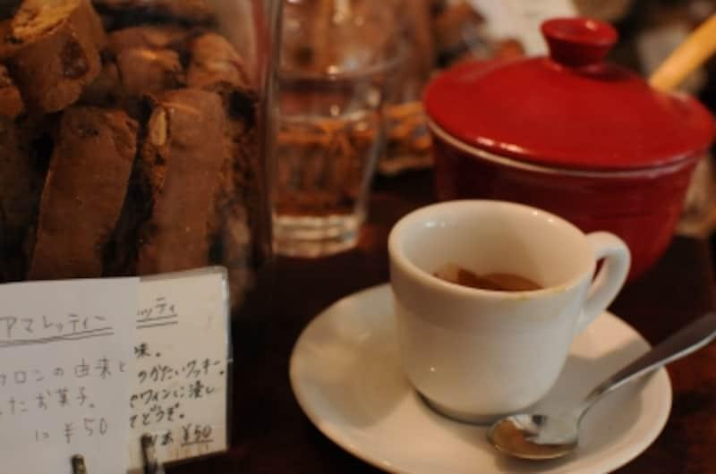 コーヒー、エスプレッソも美味