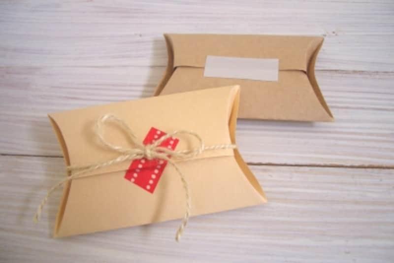 ピローボックスの作り方!ハガキサイズ厚紙を折ればギフトBOXに