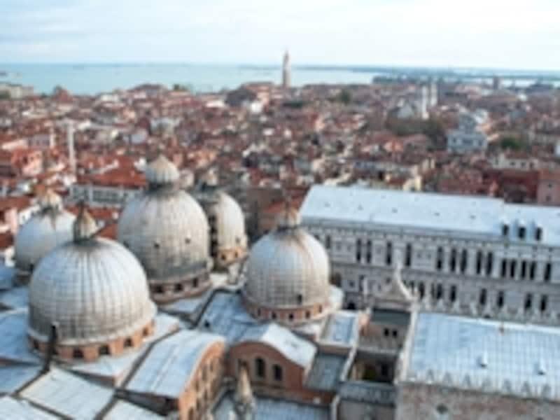 サン・マルコ鐘楼から眺めたベネチアの街並み
