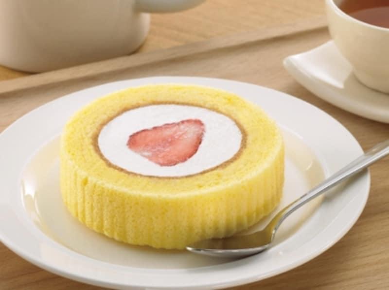 ローソンの苺のせロールケーキ