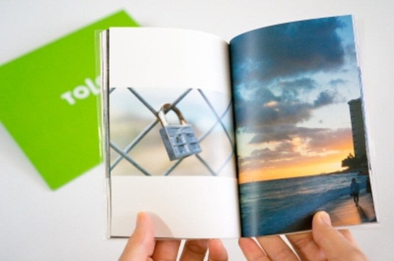 多くの写真もフォトブックならすっきり収納。冊子ですからいつでも開いて見て楽しめます。