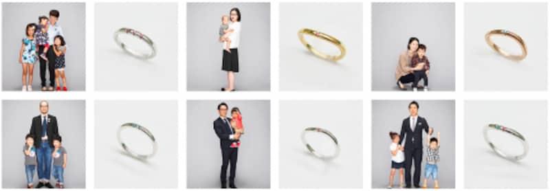 CHILDRINGWebサイトでは、家族の写真を公開!
