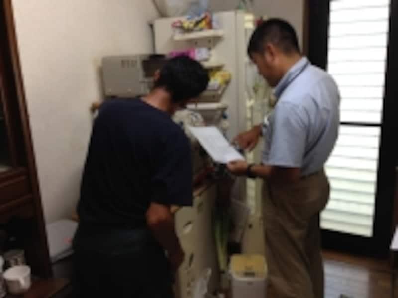工事前の現場調査