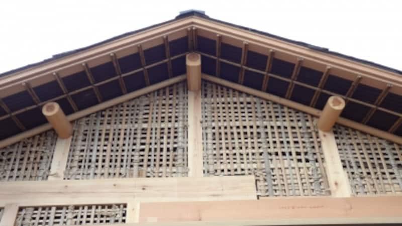 土壁下地の竹小舞