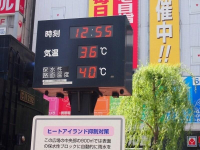 お昼の気温が36度。暑い!
