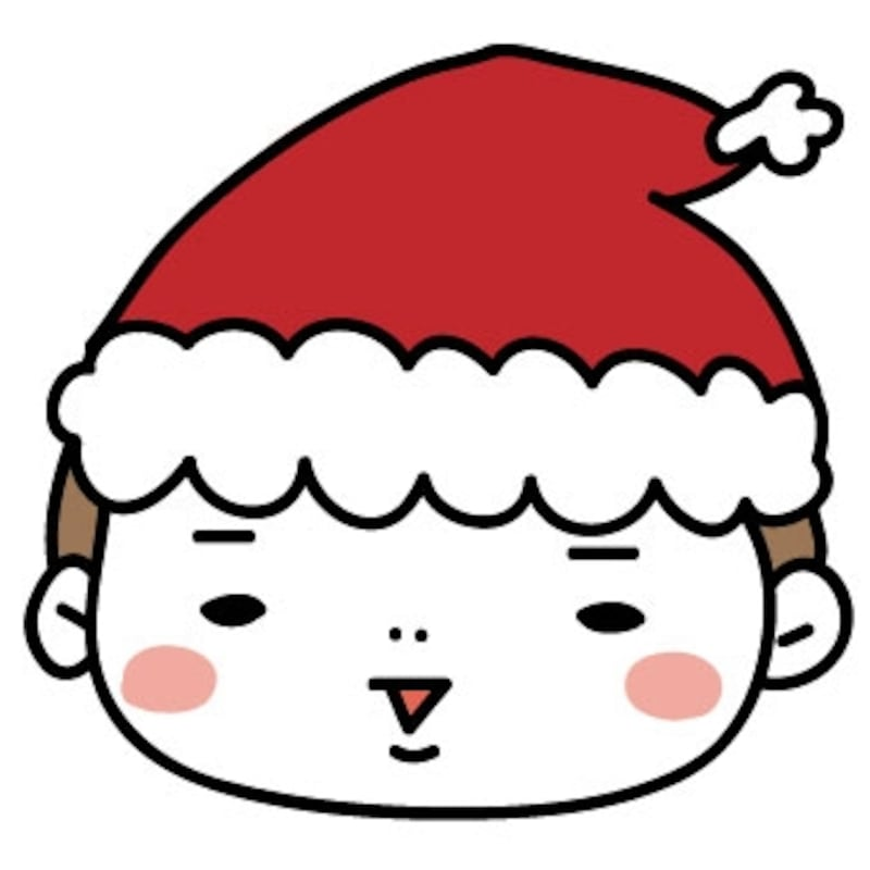 【カラー】サンタクロースに扮した男の子です。