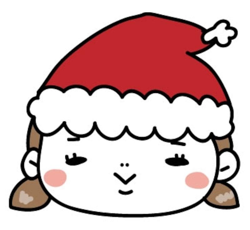 【カラー】サンタクロースに扮した女の子です。