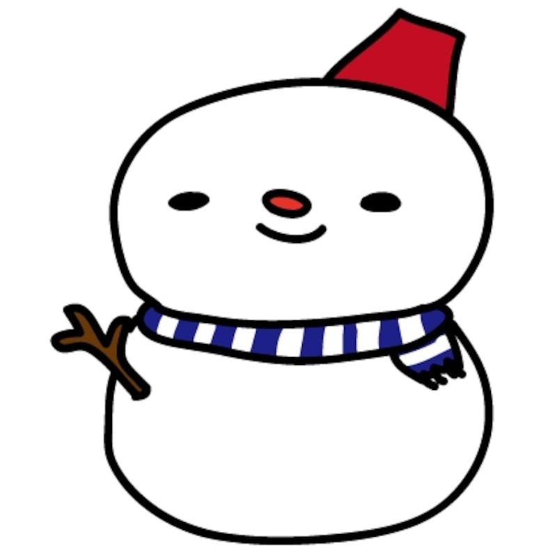 【雪だるま クリスマス イラスト カラー かわいい