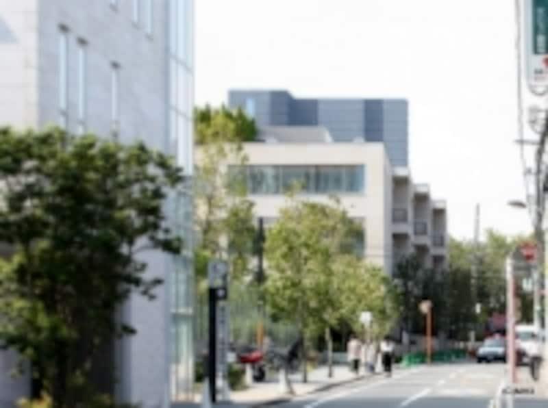 「T-SITE」入口(左)正面の建物が「ウェリス代官山猿楽町」