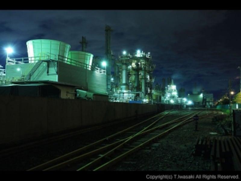 千鳥町の貨物線路付近からの夜景