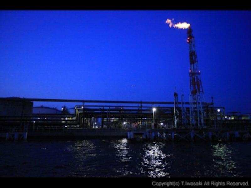 船上からの工場夜景