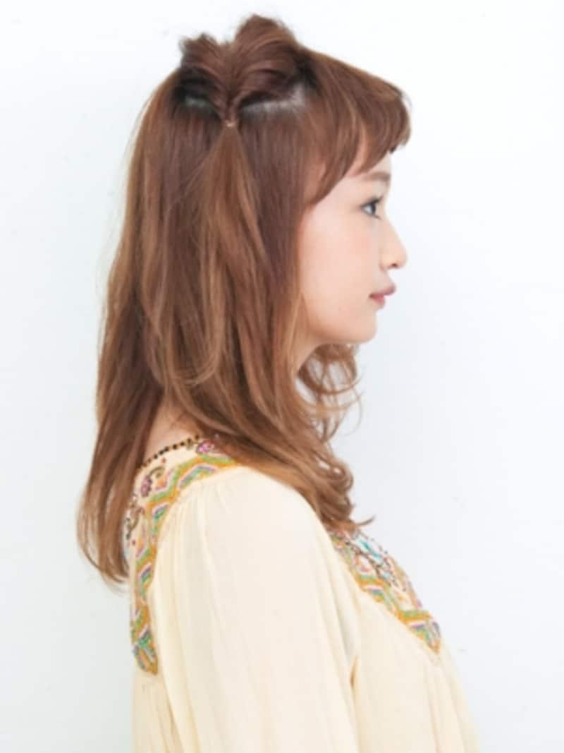 猫耳ヘアアレンジ・サイド