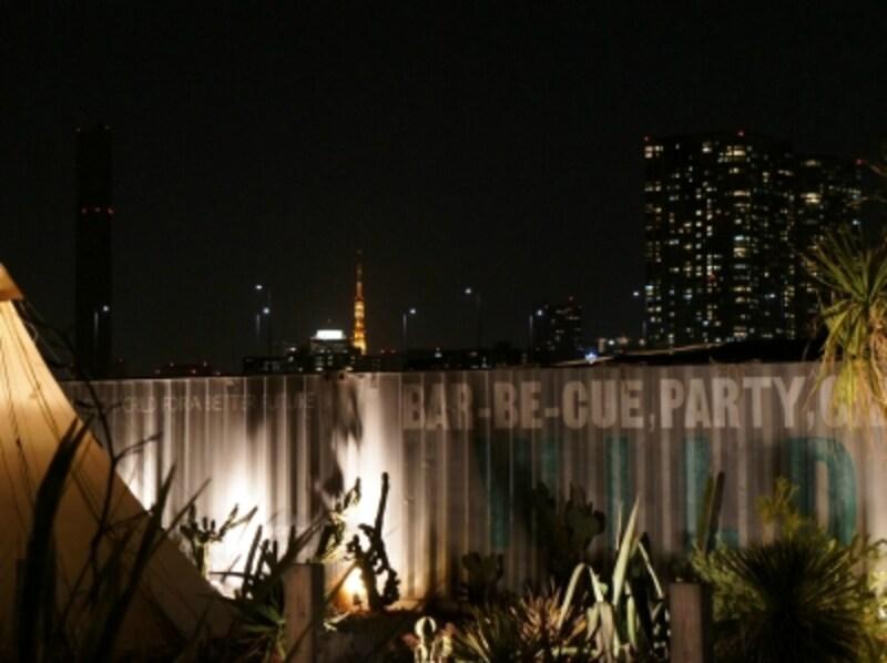 東京タワーとグリーンのライトアップ