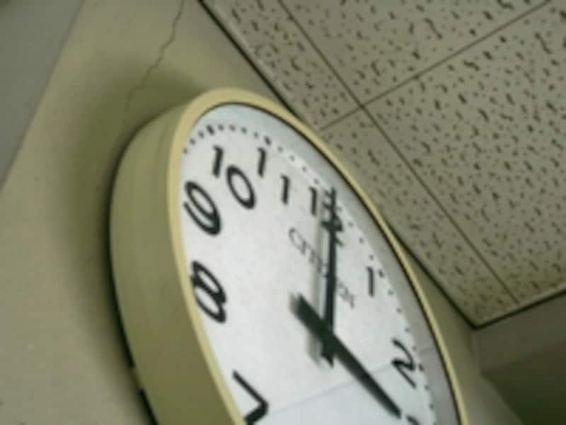 静かな現場だった。時計だけが動いているのが不思議だった。