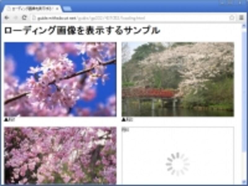 ローディング画像を使ってみたサンプルページ