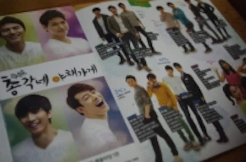 『僕らのイケメン青果店』のちらしは出演者の写真、プロフィール入りで豪華。(C)MarinoMaatsushima