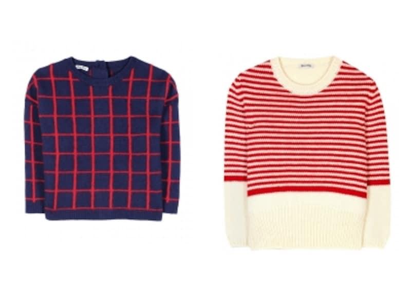 MiuMiu/Croppedsweater、MiuMiu/CROPPEDCHUNKY-KNITPULLOVER