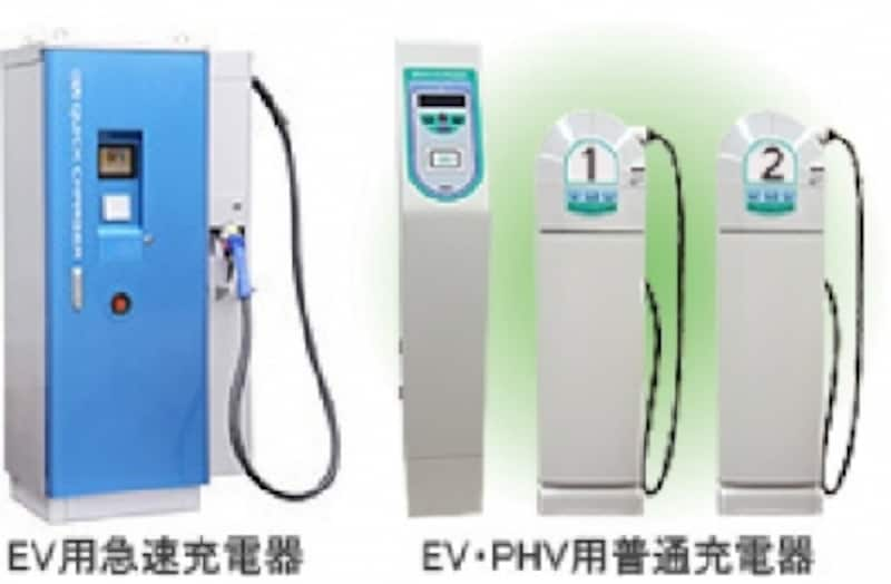 (図)NECundefinedHPより急速充電器と普通充電器