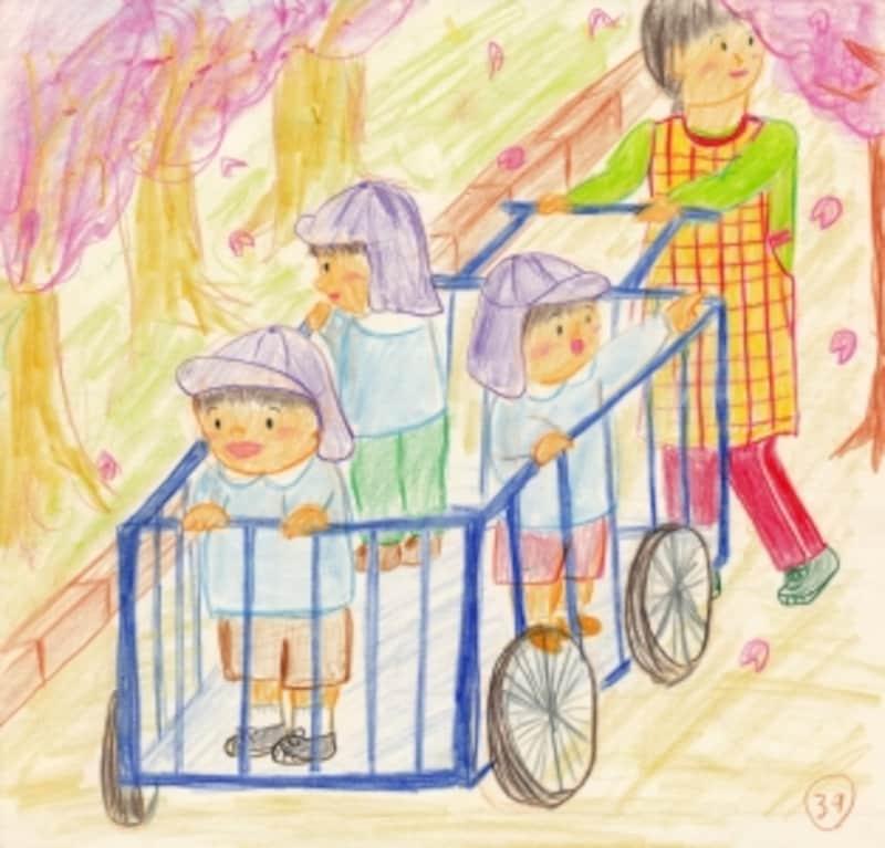 保育士試験造形表現練習 おさんぽ(春)