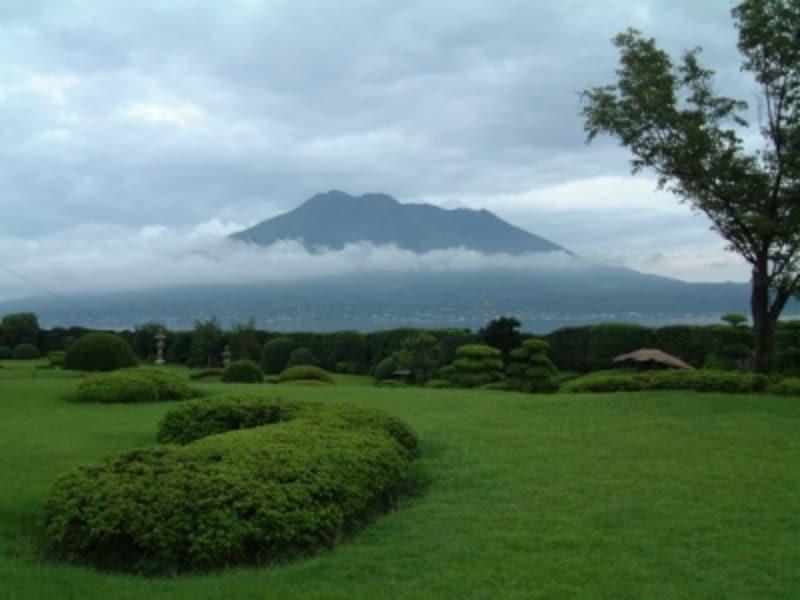 仙巌園から眺める桜島