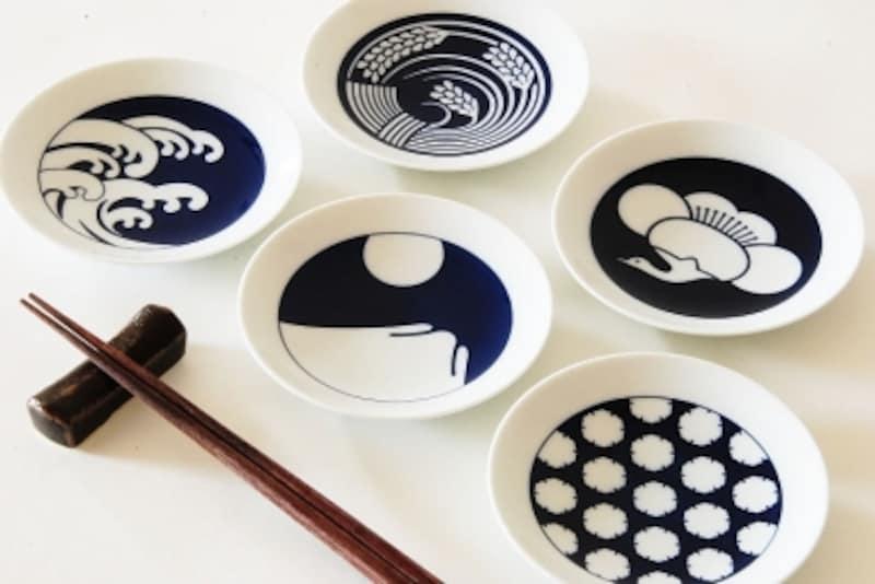 KIHARAundefinedキハラ小紋undefined豆皿Mamezara季節紋5種セット