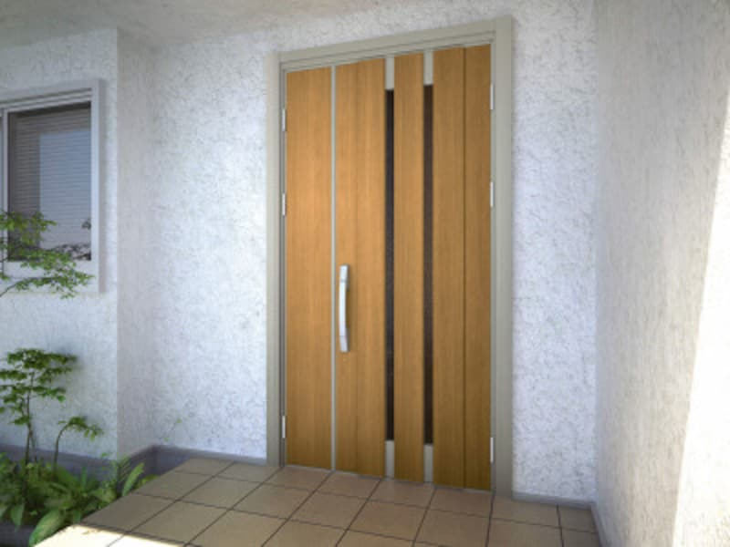 カバー工法でリフォーム後の玄関ドア