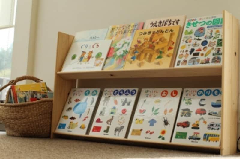 かごと本棚の写真