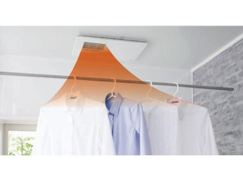 暖房、衣類乾燥、換気、涼風機能を持つ、ビルトインタイプ(天井埋め込み)。[三乾王undefinedTYB3000シリーズ]undefinedTOTOhttp://www.toto.co.jp/