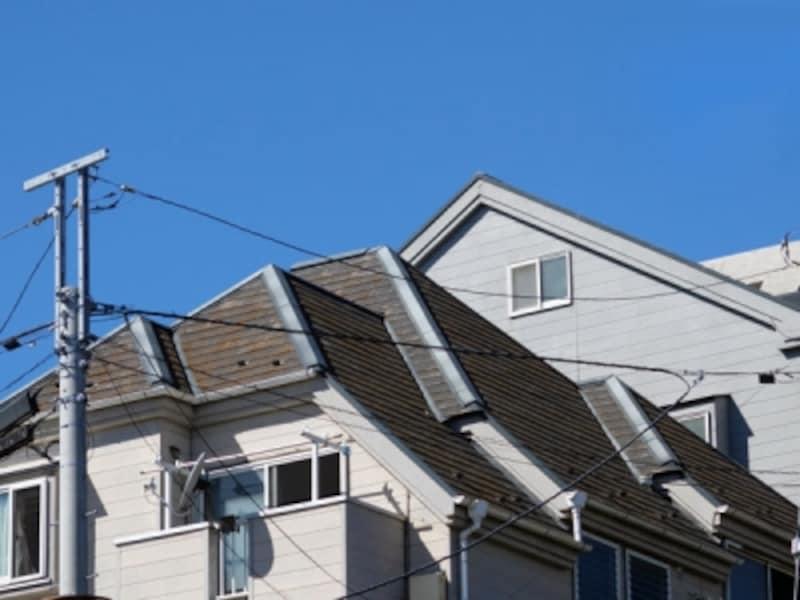 複雑な屋根の形の例
