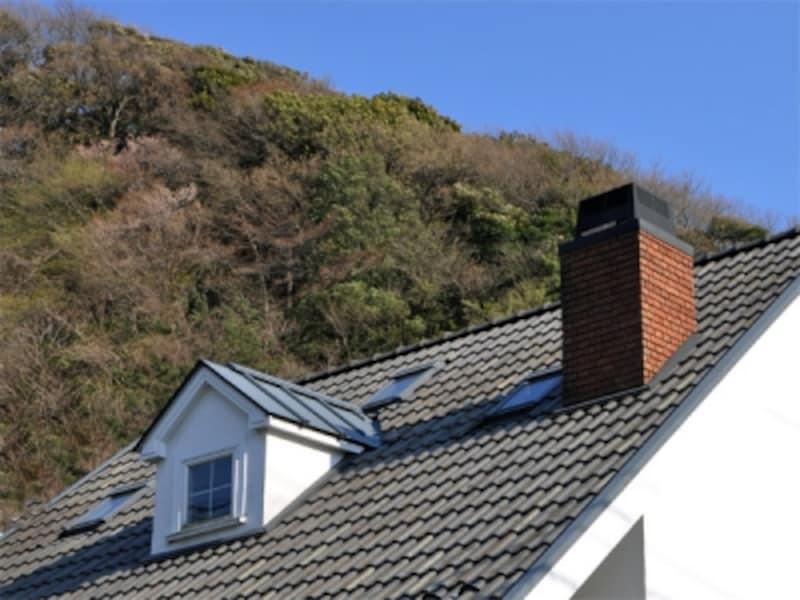 屋根の構造物