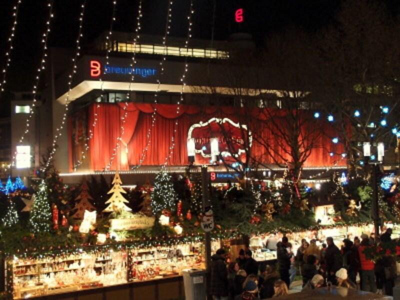 高級デパート・ブロイニンガーもクリスマス色に