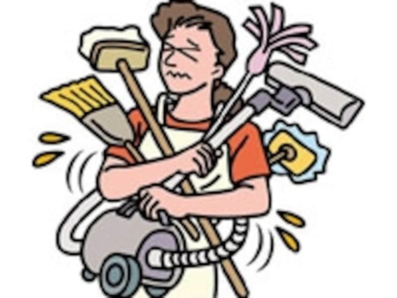 家事の連係が悪い間取りではなかなか効率は上がらない。