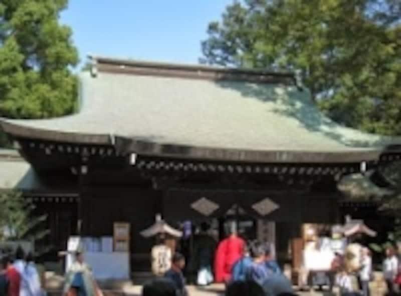 川越まつり当日の氷川神社の様子
