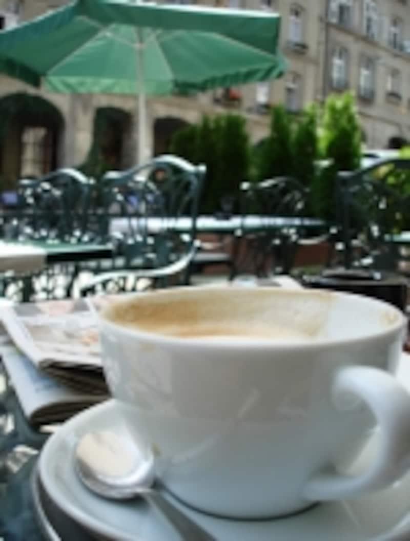 スイスのカフェ