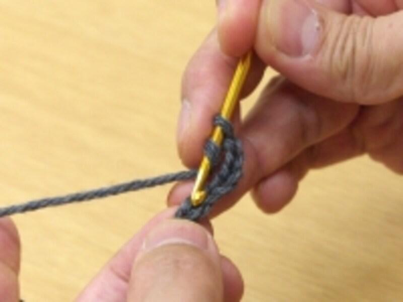 1段目の最初の長編み