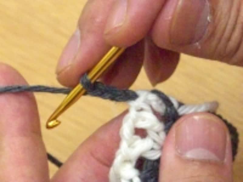 立ち上がりの鎖編み3目