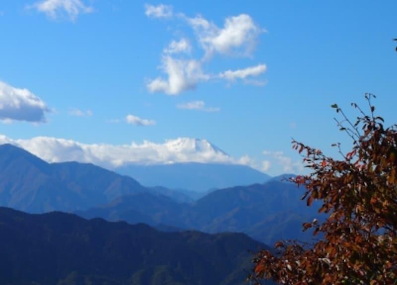 天気のいい日は、富士山をはじめ多くの山々が見える