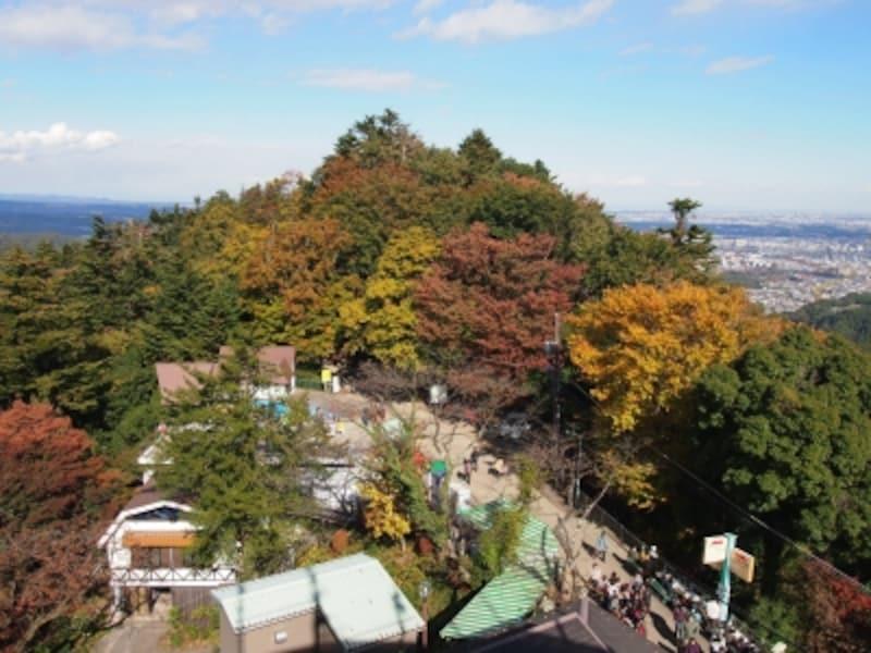 山頂からの景色とはまたちがった眺望だ