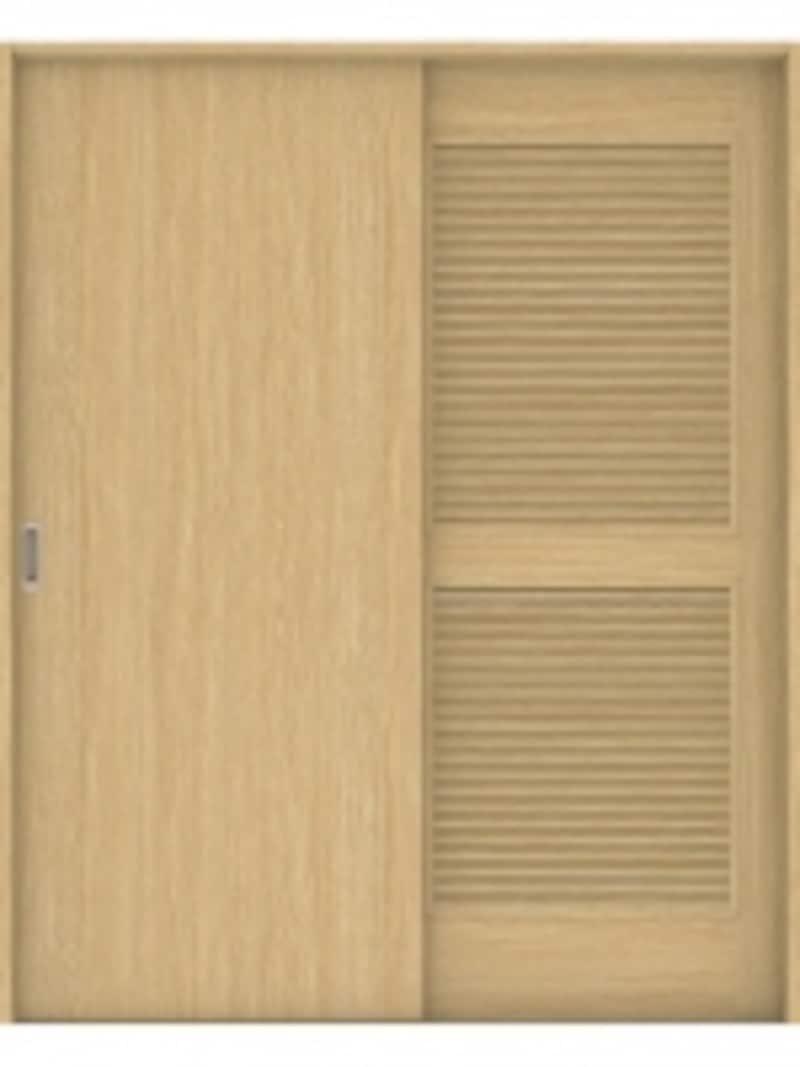 プライバシーを確保しながら、室内や収納内にこもりがちな湿気を排出。undefined[ハピアベイシスundefined通気引戸]undefinedDAIKENundefinedhttp://www.daiken.jp/