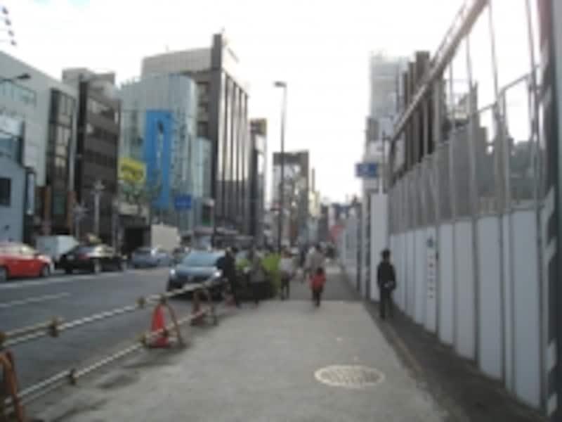 建設中止の現場