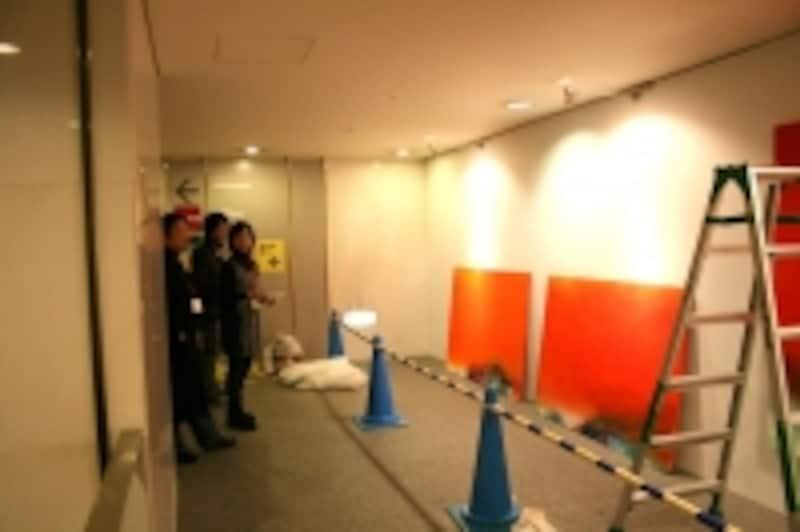 加藤義夫さんがキュレーターを務めた、あいちトリエンナーレ地域展開事業「アーツ・チャレンジ2012」青木恵美子作品展示風景