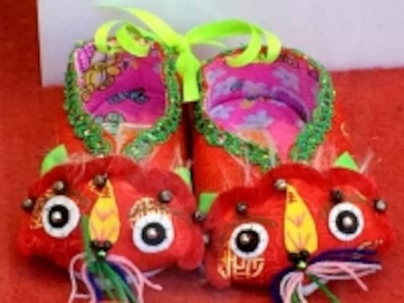 北京「内聯昇」虎のベビー靴
