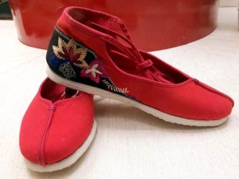 北京「内聯昇」刺繍布靴