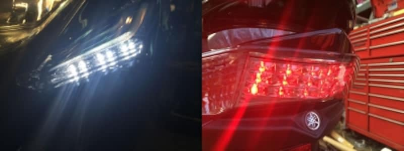 LEDポジションライトとストップランプ