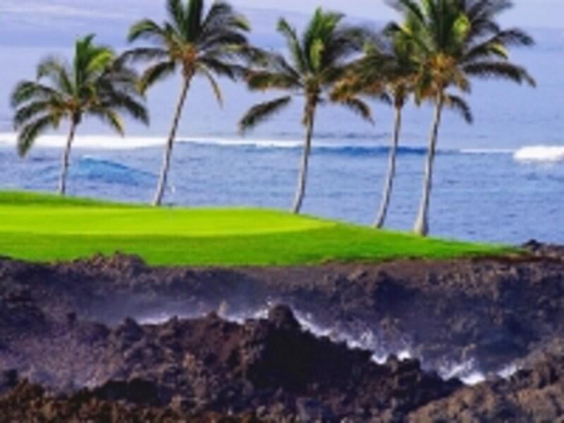 ハワイ島のタイムシェアはゴルフコースに隣接