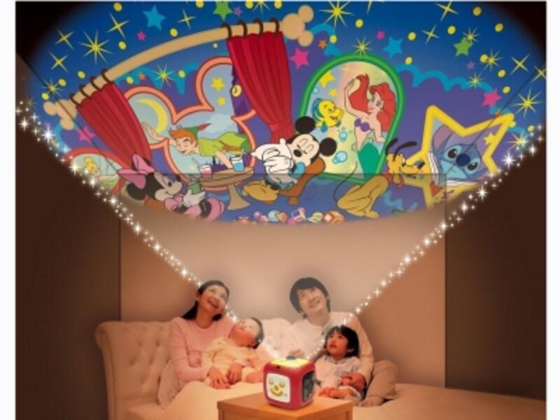 LED搭載で投影面積が大きく、明るく鮮やか。親子でゆったりした時間が持てます