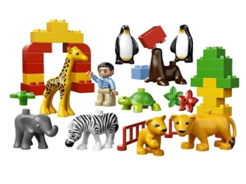 はじめてのブロックにピッタリ!undefined動物や飼育係の人形入りで遊びやすいセットです