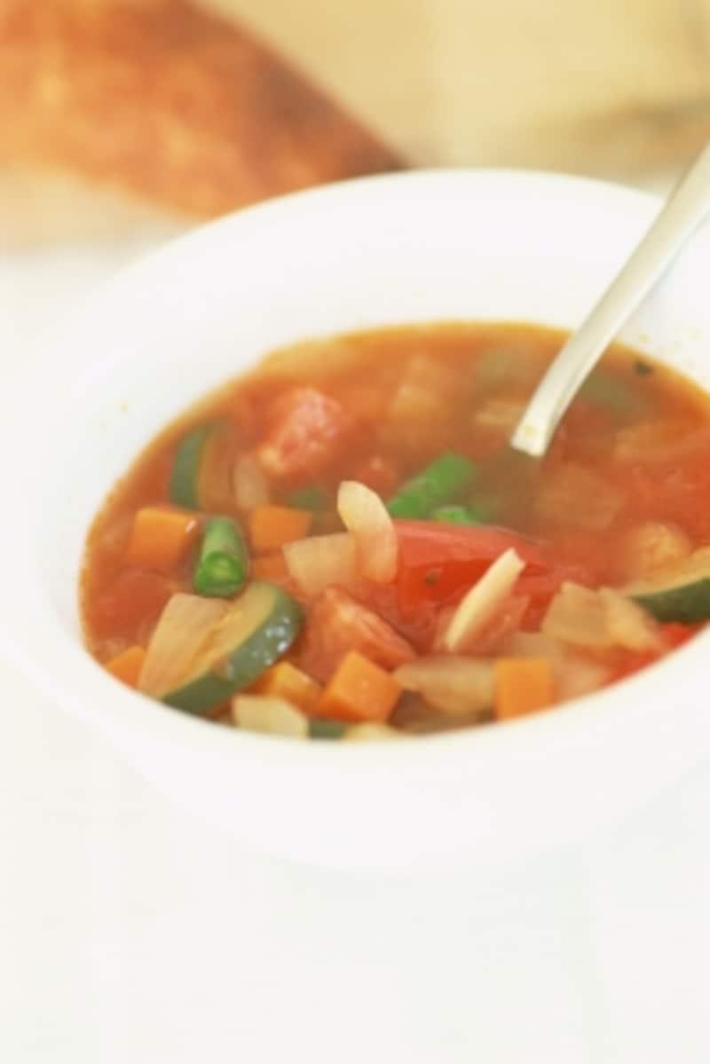 野菜いっぱい具だくさんのあったかいスープ