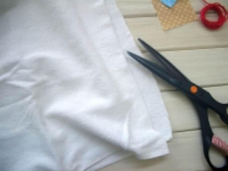 雑巾の作り方!まずは半分にカット